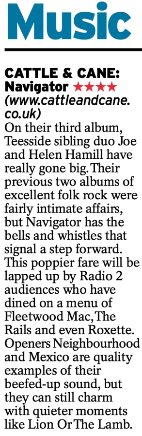 Four star review in the Daily Express 6/12/2019